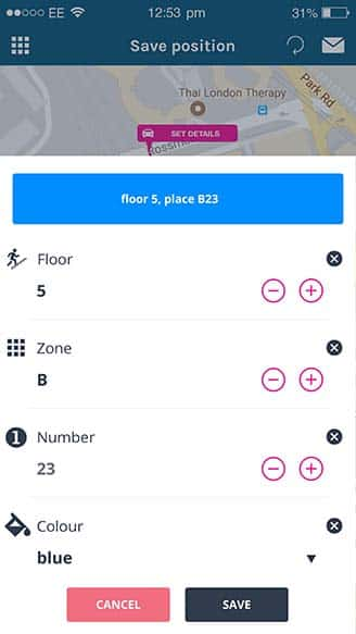 garage parking details (save parking location service) | Spotee