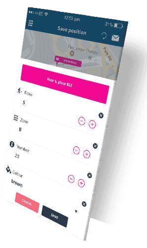 Parking details (find & save parking location service) | Spotee