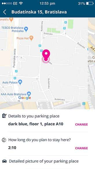 parking spot information (save parking location service) | Spotee