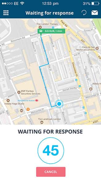 waiting for response (search for smart parking) | Spotee